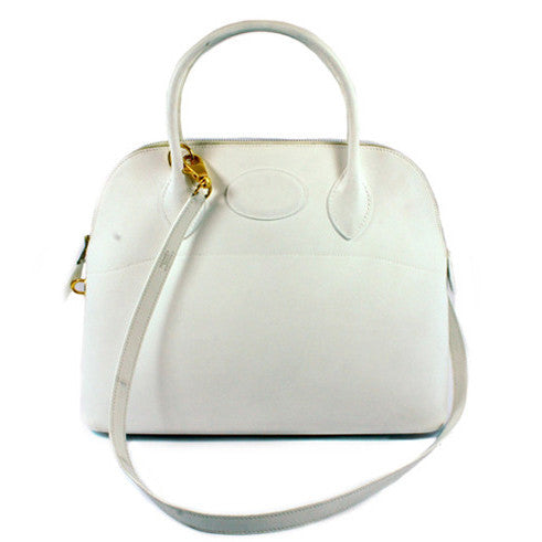 "Hermés White ""Bolide"" Bag - Encore Consignment - 1"