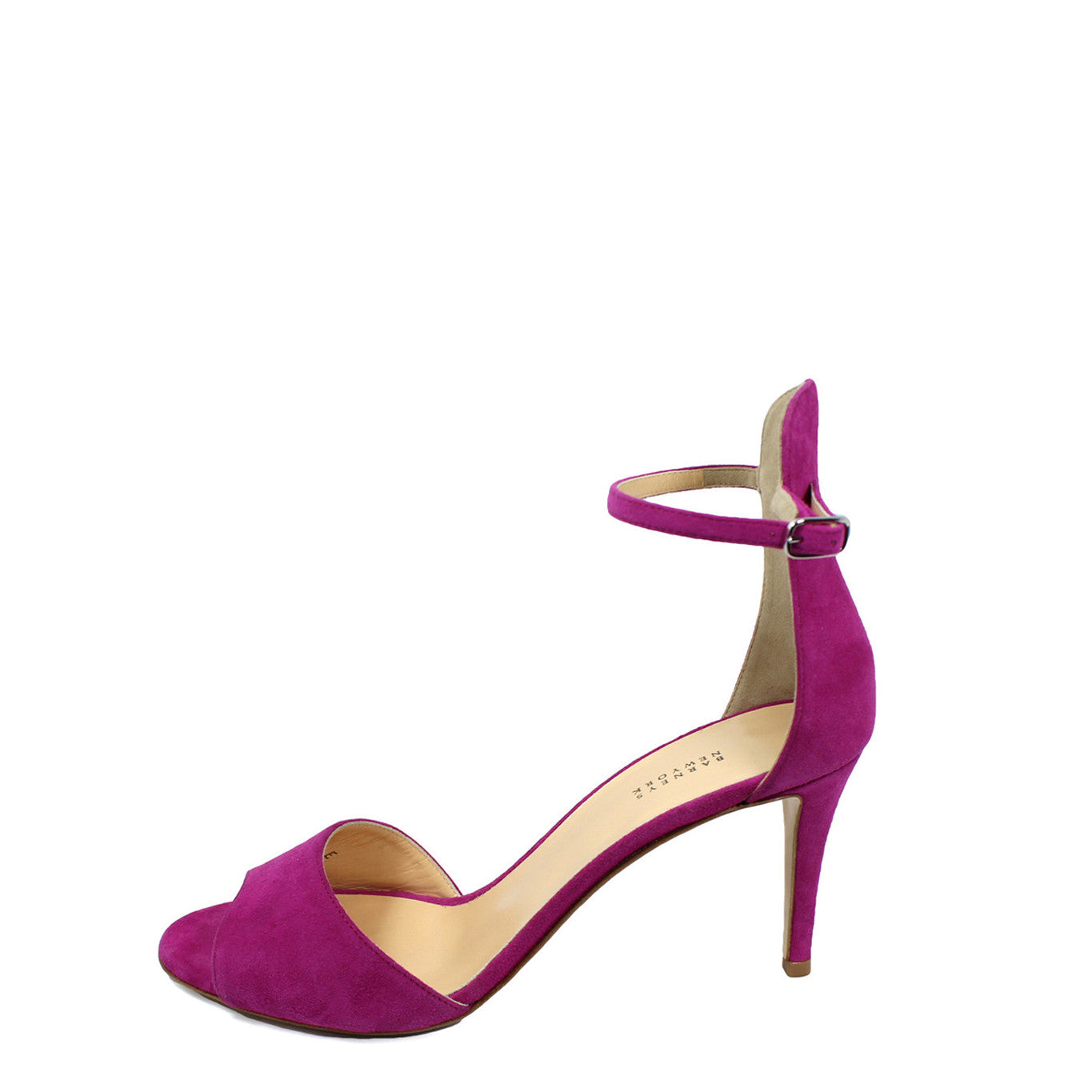 Barneys New York Fuchsia Suede Ankle Strap Sandals (Size 38.5) - Encore Consignment - 11