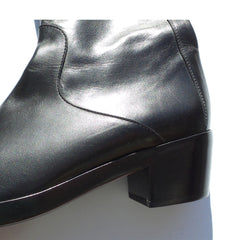 'Sold' BALENCIAGA Black Leather Square Toe 38 EC