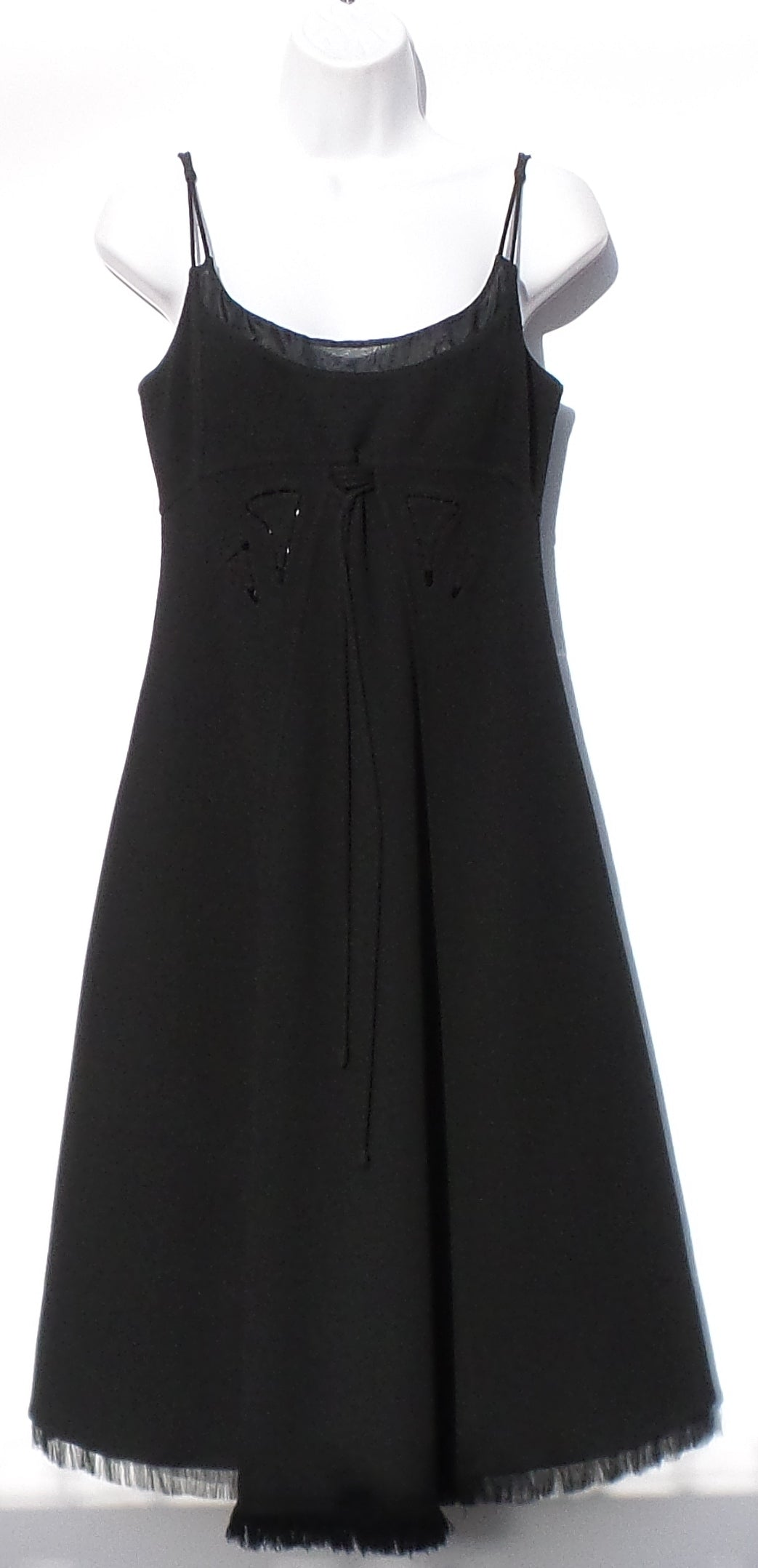 'Sold' CHADO RALPH RUCCI Black Wool Stitched Cut Out Detail Tank Dress + Jacket Set 6