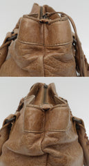 'Sold' BALENCIAGA Tan Caramel Chevre Leather Motorcycle Top Zip Aged Brass HW Bag