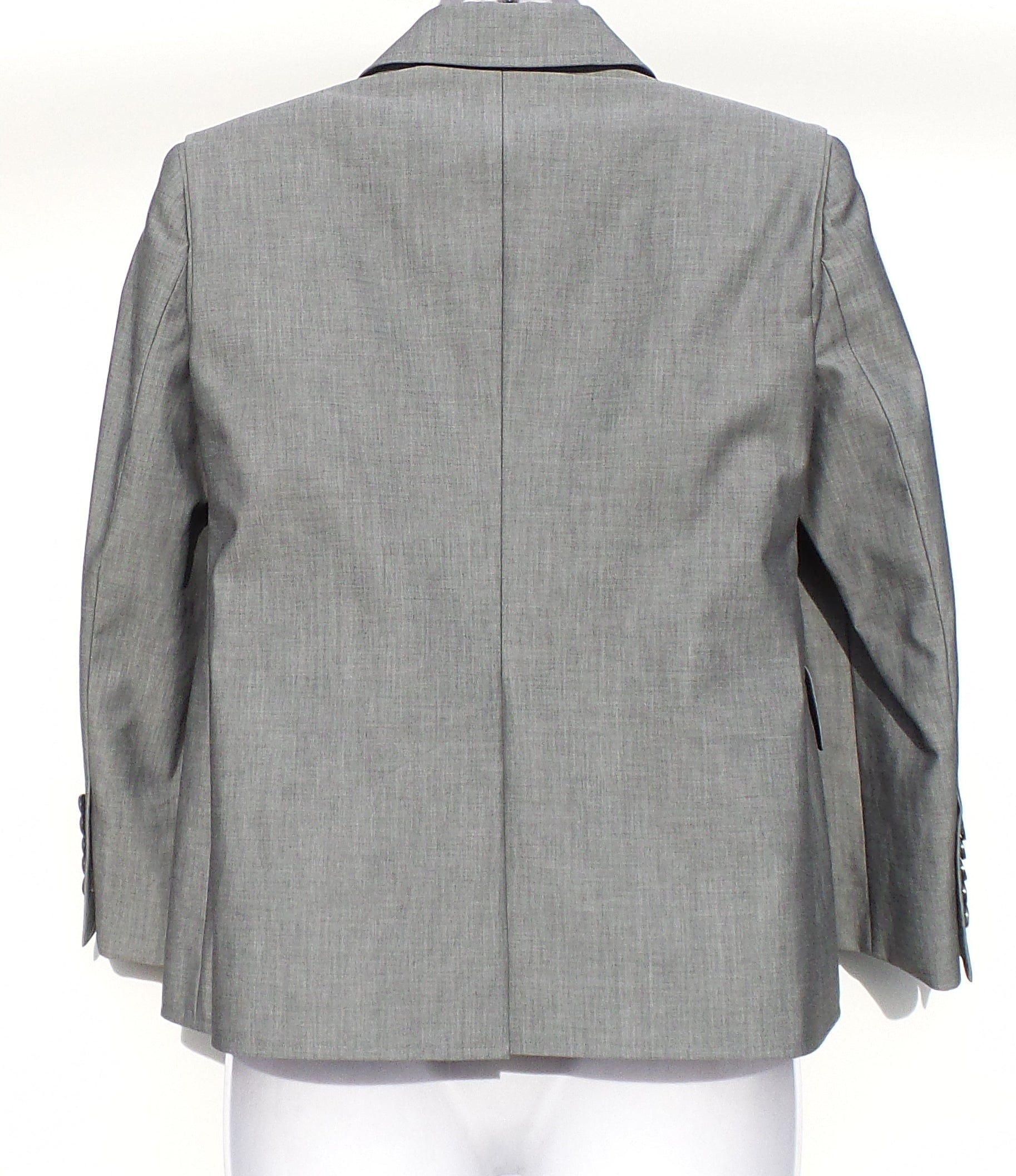 BALENCIAGA Light Gray Boxy Double Breasted Jacket FR 36