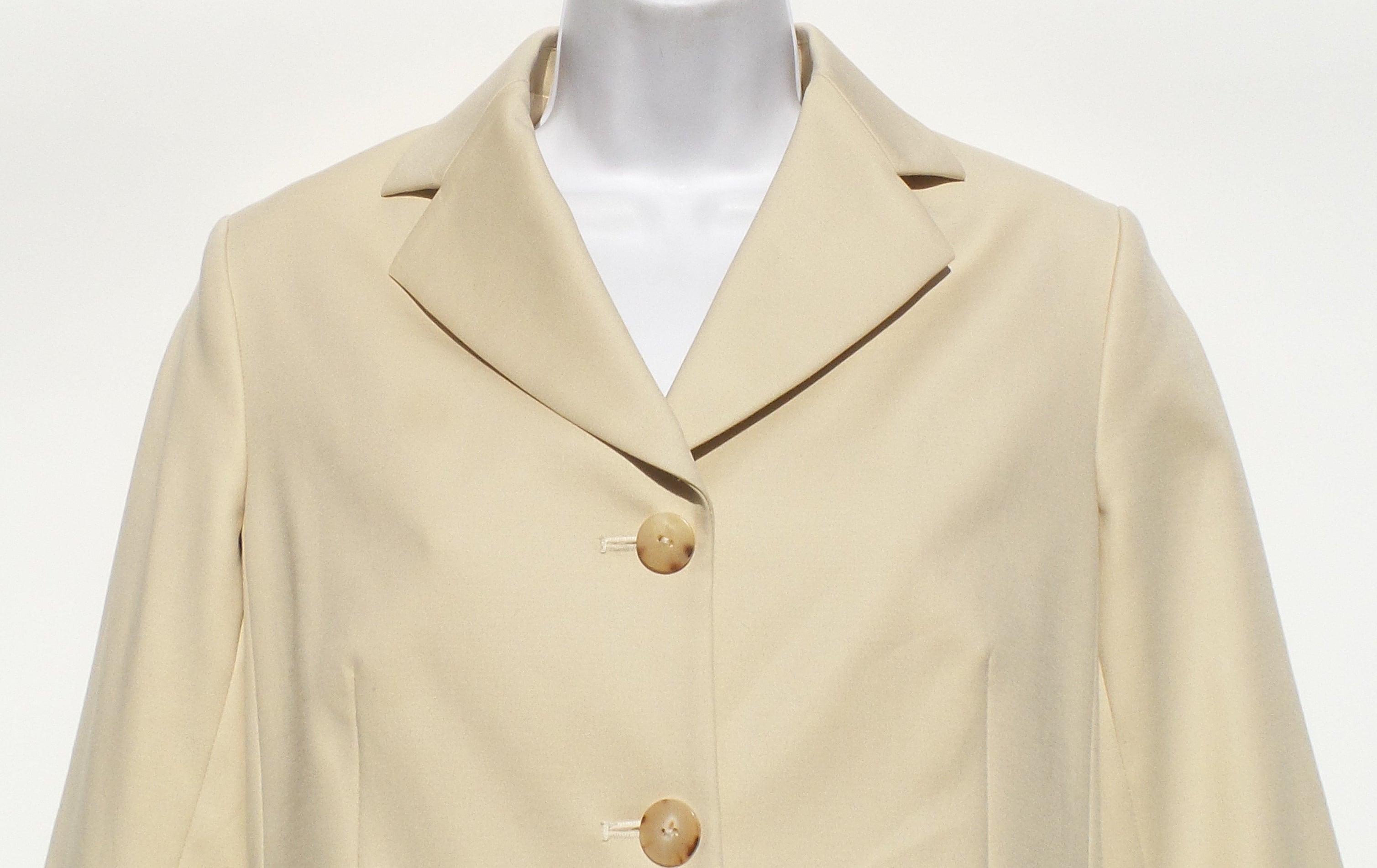 THE ROW Myram Light Beige Stretch Cotton Jacket Blazer 8 $1390