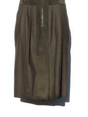 BELSTAFF Camborne Exposed Zip Military Suede Dress 44 $1695
