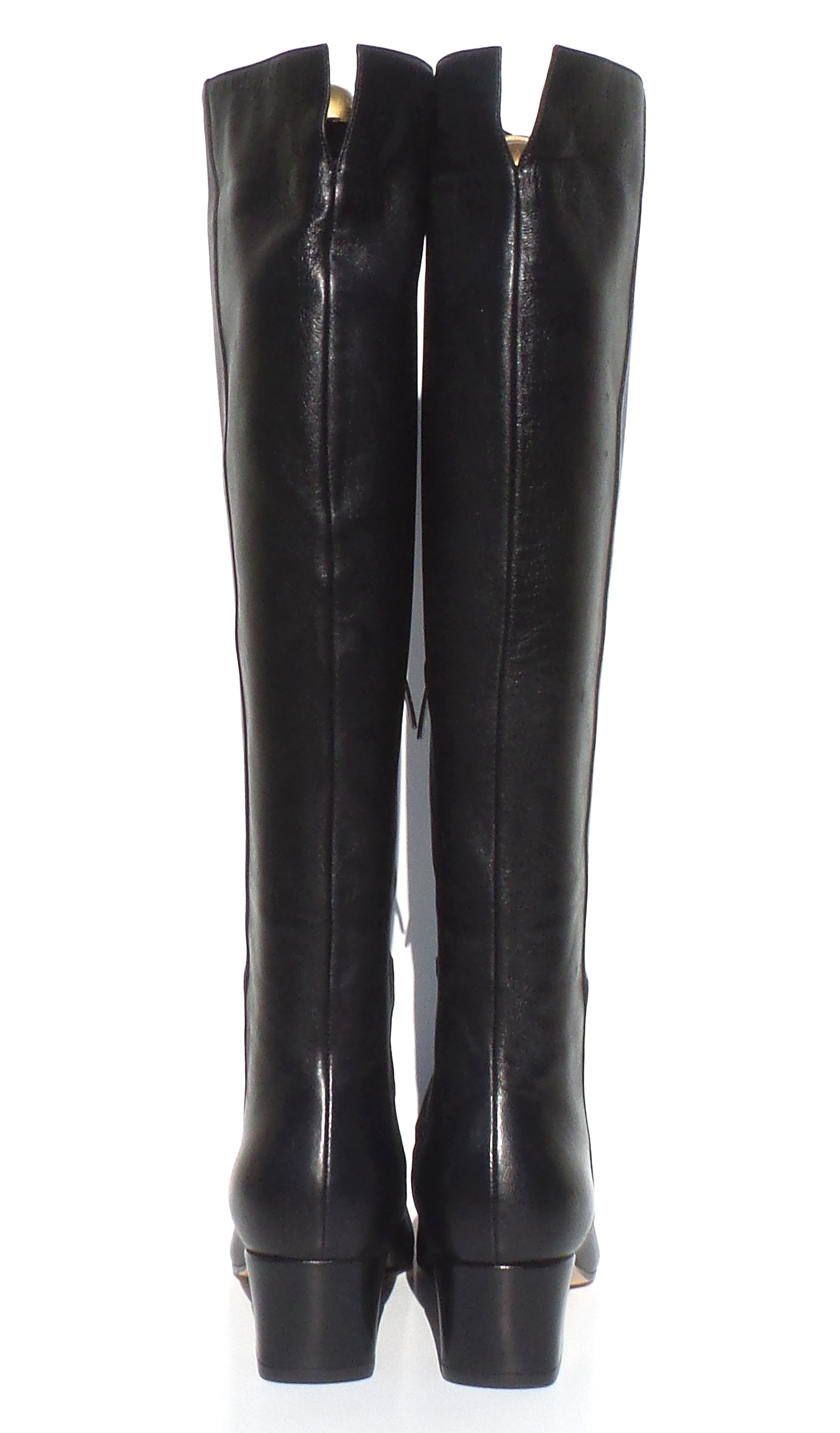 4f38b5c52 'Sold' GIANVITO ROSSI Black Leather Square Toe Mid Block Heel Tall Boots  36.5 NWD. '