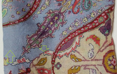 'Sold' ETRO Multi Color Floral Paisley Print Wool Silk Gauze Self Fringe Trim Scarf GUC