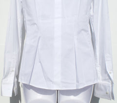 'Sold' DOLCE&GABBANA White Stretch Cotton Poplin Classic Button Down Blouse Top 42 $545