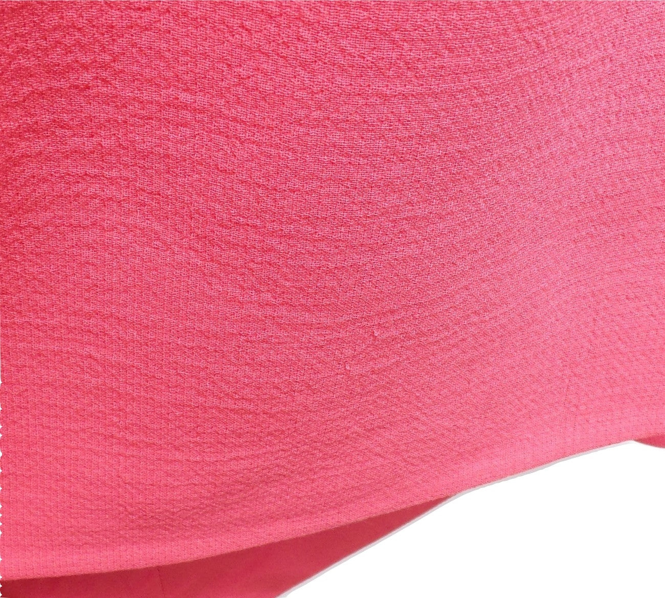 CHRISTIAN DIOR FW15 Bright Pink Short Cap Sleeve Virgin Wool Hi-Lo Dress IT46 10