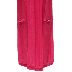 'Sold' CHANEL 09P Metallic Raspberry Pink Tiered Short Sleeve Pleated Tunic Dress S GUC