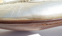 'Sold' GRAVATI Metallic Gold Leather Tasseled Moccasin Loafers Flats Italy 7.5 M $595
