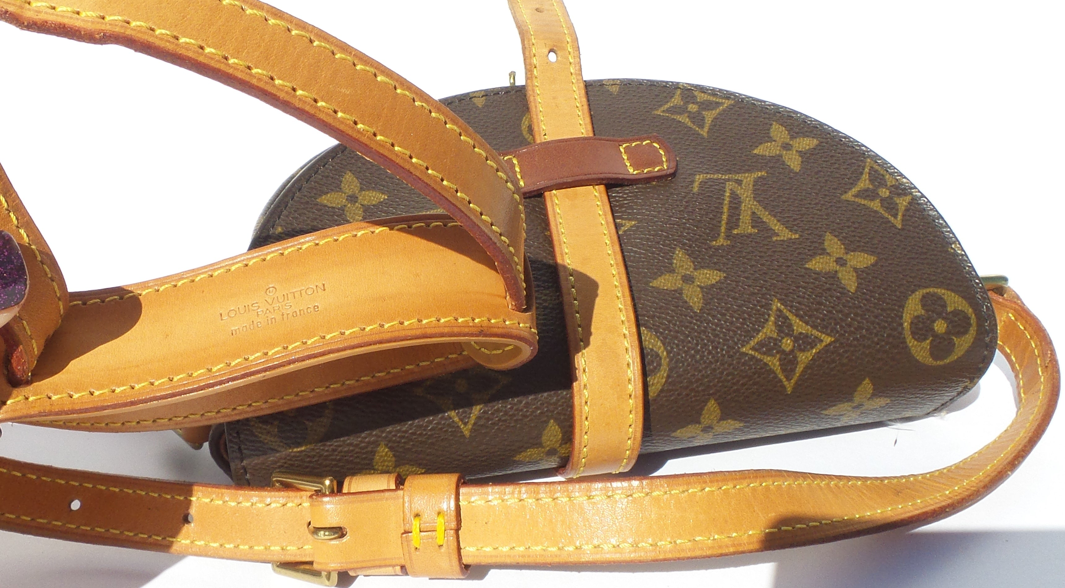 'Sold' LOUIS VUITTON Chantilly PM Monogram Canvas Leather Crossbody Messenger Bag VTG