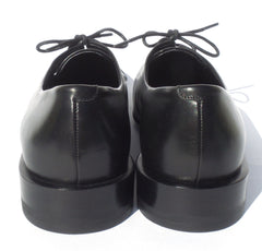 'Sold' JIL SANDER Black Smooth Leather Lace Up Low Heel Oxford Loafers 38.5