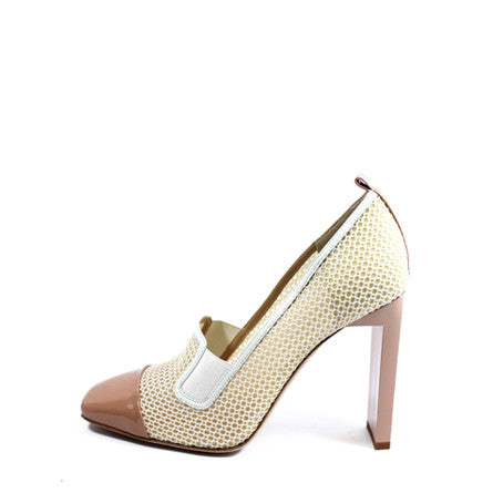 Reed Krakoff Mesh Atlas Nude and White Pumps (Size 38.5) - Encore Consignment - 1