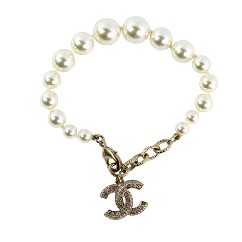 Chanel Pearl and Swarovski Crystals Bracelet - Encore Consignment - 1