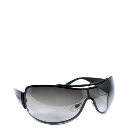 Bvlgari Wrap Around Black Sunglasses - Encore Consignment - 1
