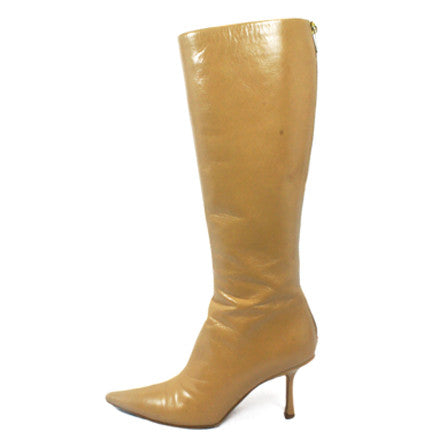 Jimmy Choo Beige Knee High Boots (Size 36.5) - Encore Consignment - 1