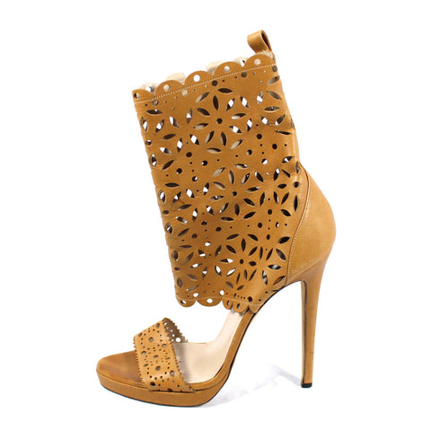 Oscar de la Renta Tan Leather Cut Out Sandals (Size 40) - Encore Consignment - 11