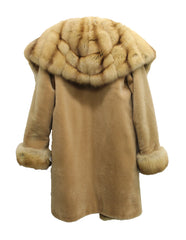J. Mendel Sable and Beaver Fur Reversible Coat w/Hood (Size M) - Encore Consignment - 5