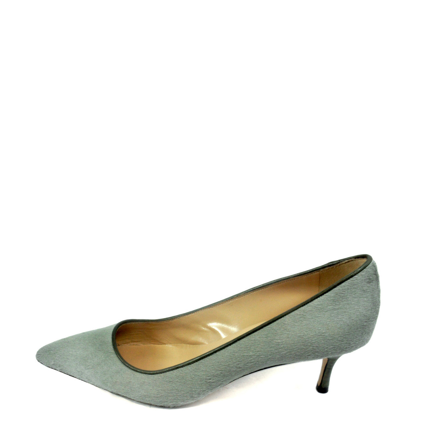 Manolo Blahnik Grey Calfhair Pumps (Size 39.5) - Encore Consignment - 8