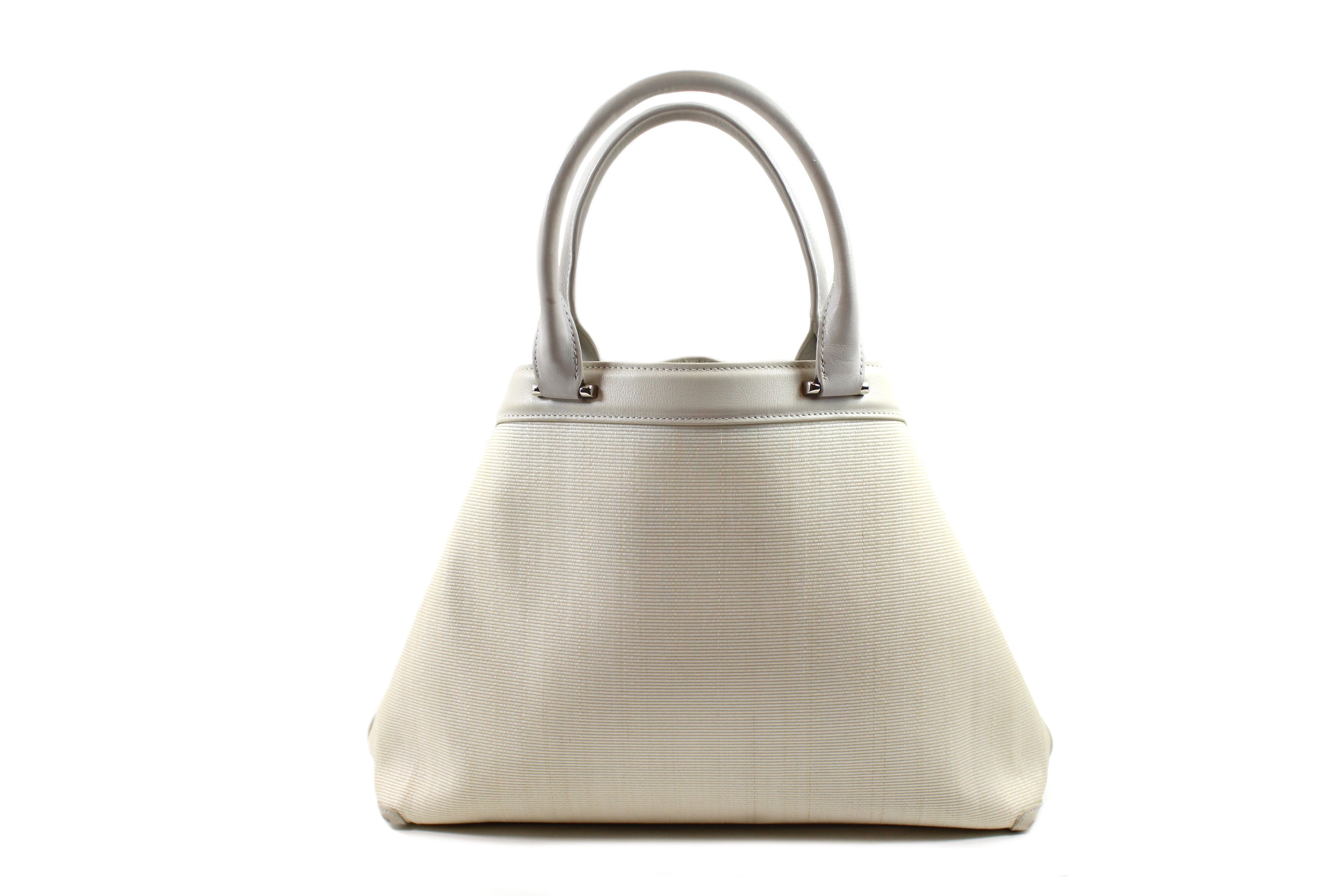 Akris 'Ai' Ivory Fabric Convertible Handbag