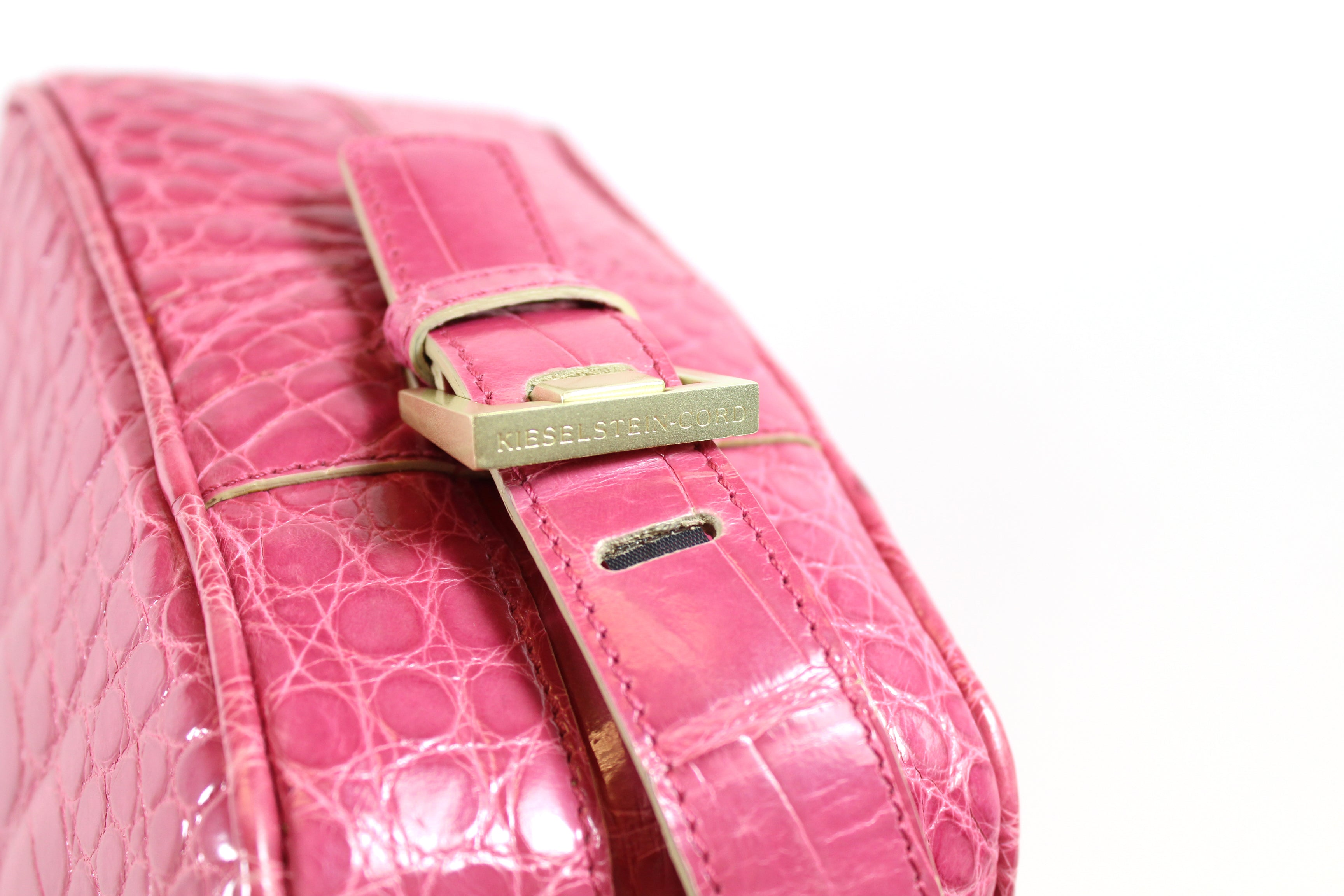 Barry Kieselstein-Cord Guava Patent Alligator Bag