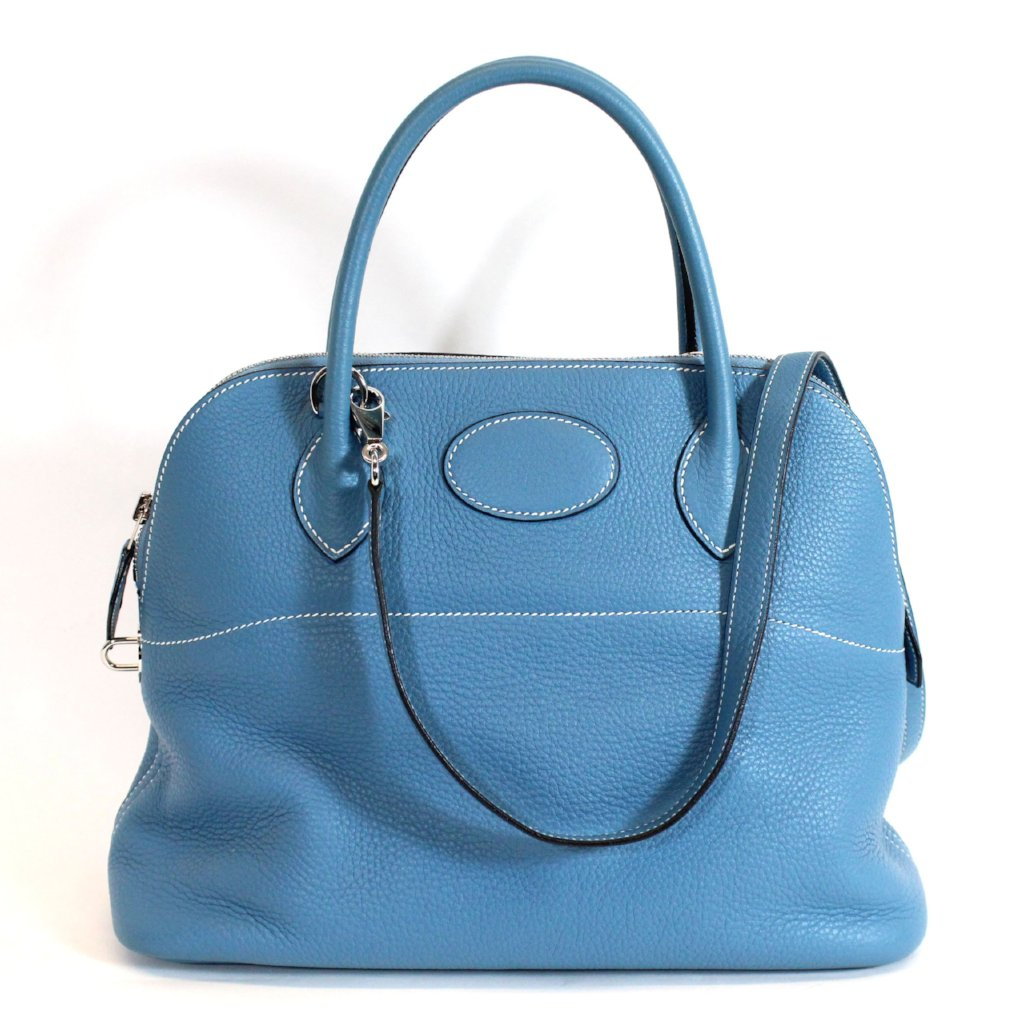 HERMÈS Blue Bolide 31 Bag