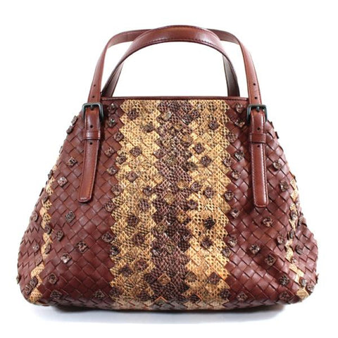 ETRO Multi Color Snake Print Tiered Fringe Bead Embellished Trim Shoulder Bag IT