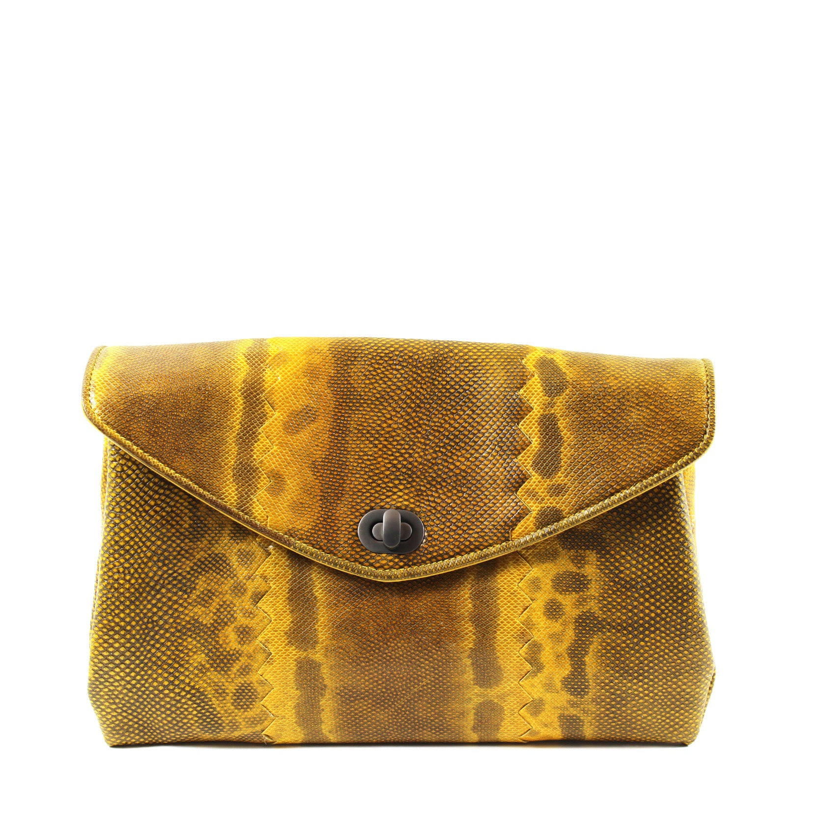 83d81a4557 Bottega Veneta Yellow Lizard Clutch – Encore Resale.com