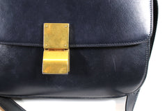 Céline Medium Navy Classic Box Calfskin Bag