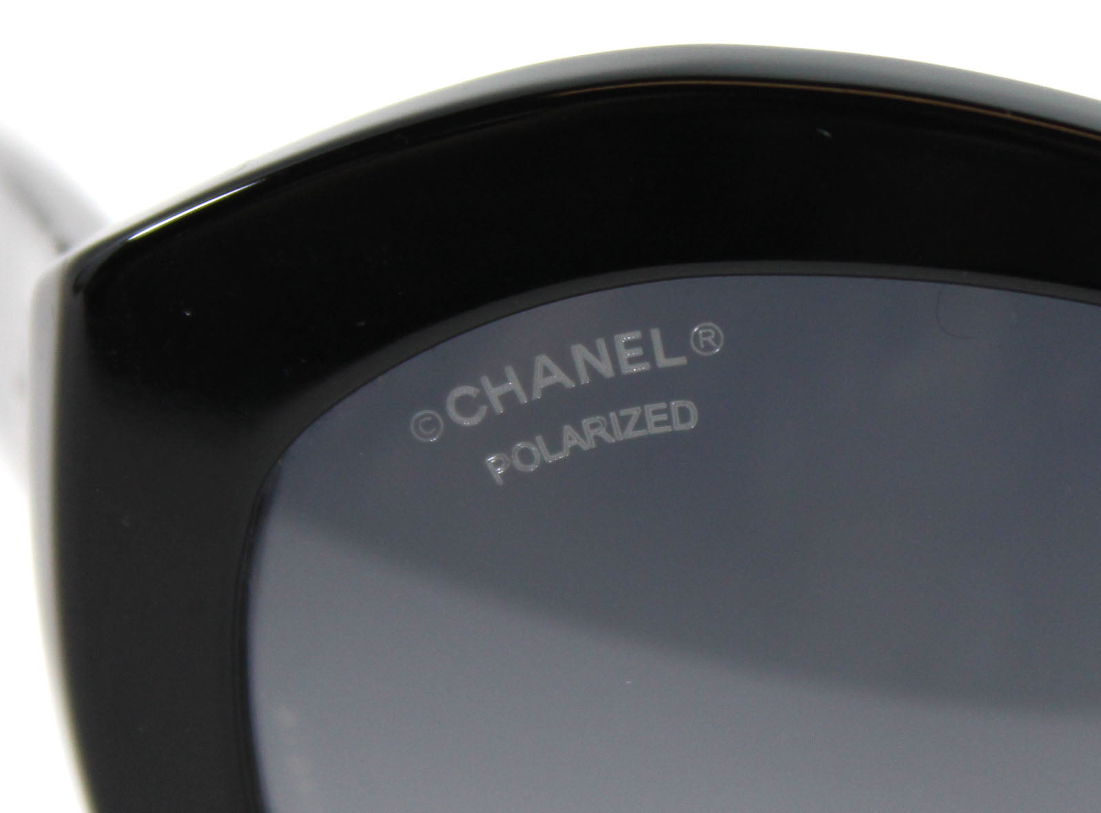 'Sold' Chanel Black Acetate Lace Sunglasses - 5294