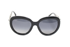 Chanel Black Acetate Bijoux/Pearls Sunglasses - 5334-H-B