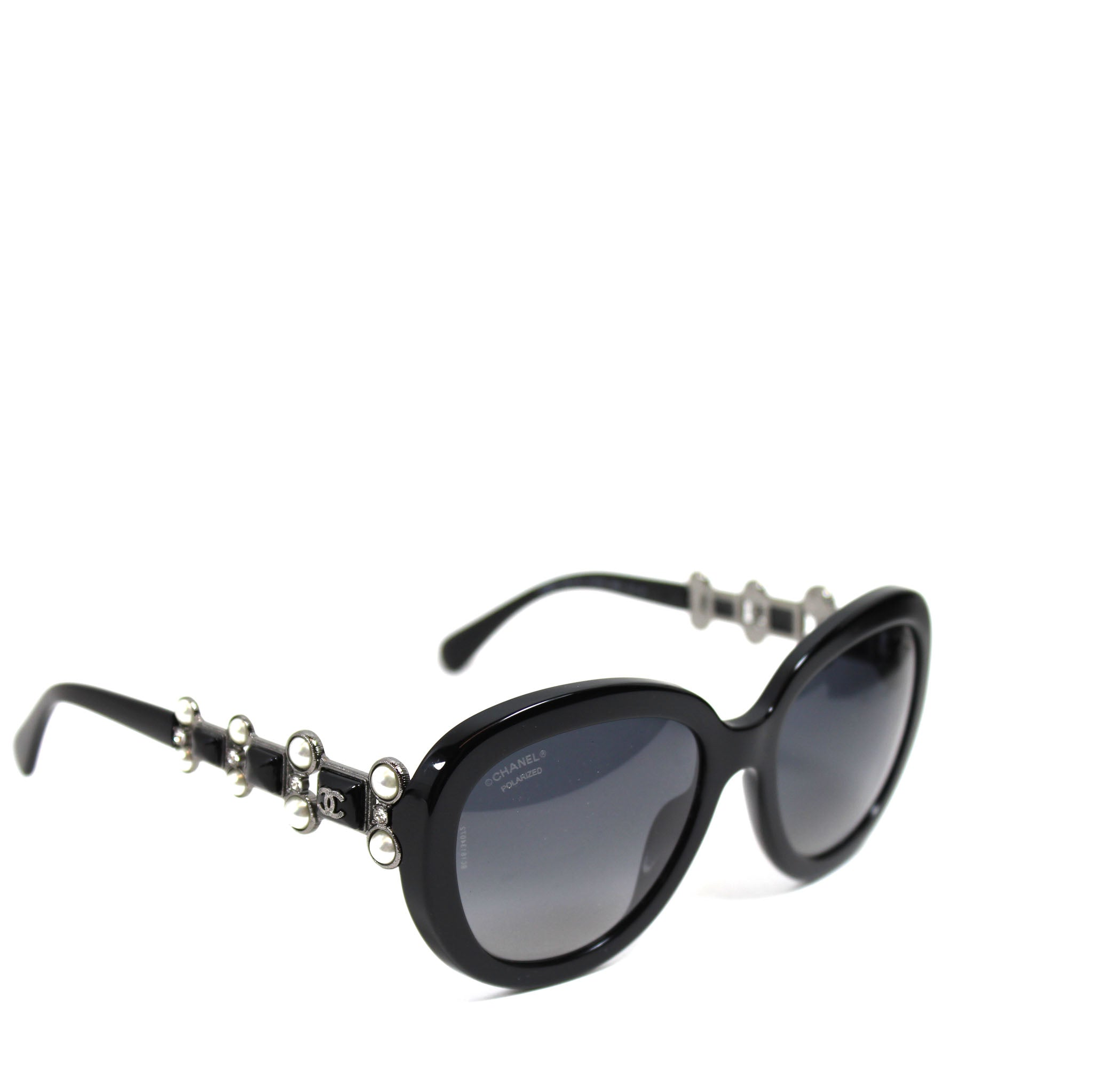 d3929262807ae Chanel Black Acetate Bijoux Pearls Sunglasses - 5334-H-B – Encore  Consignment