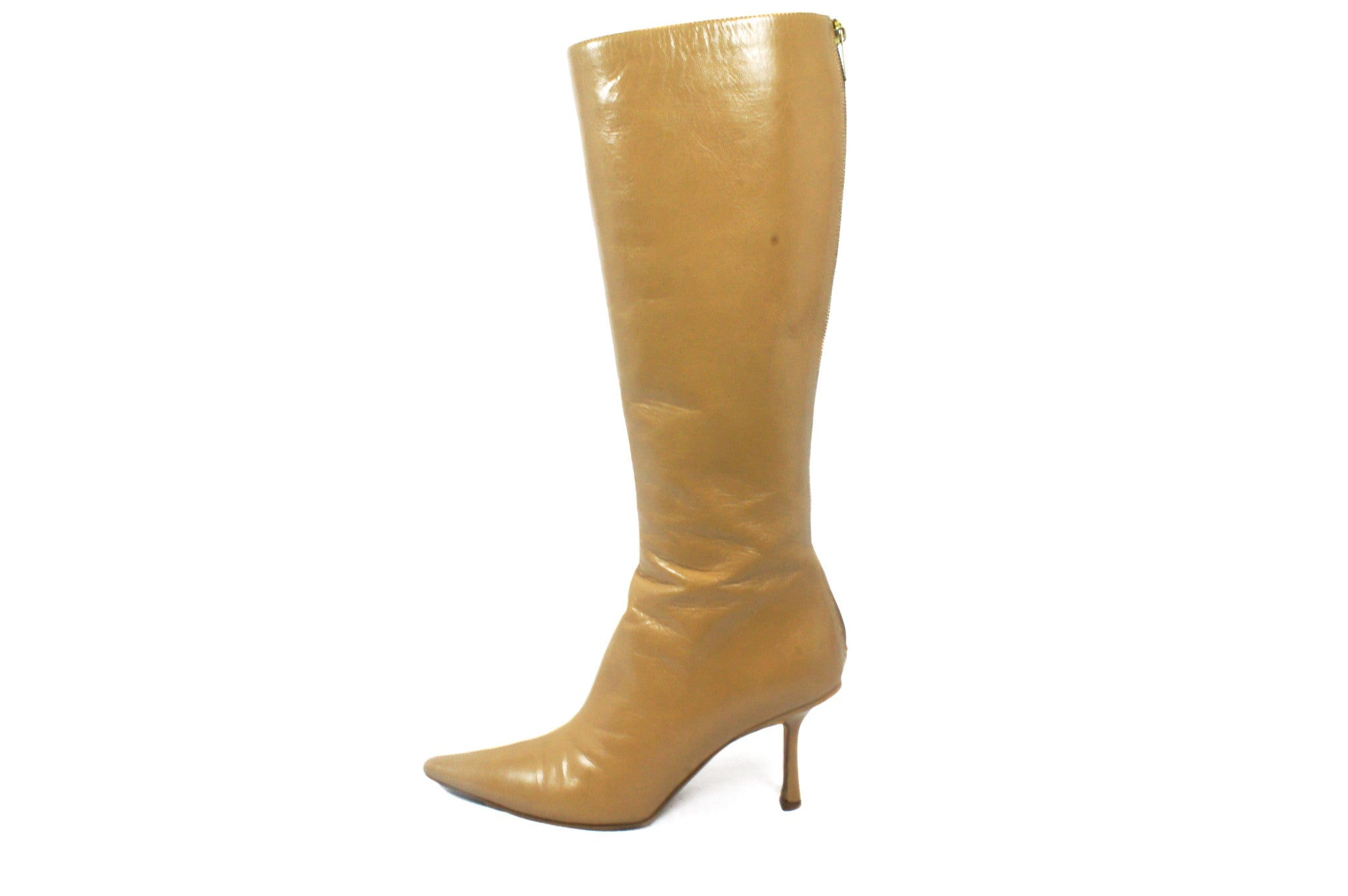 Jimmy Choo Beige Knee High Boots (Size 36.5) - Encore Consignment - 2