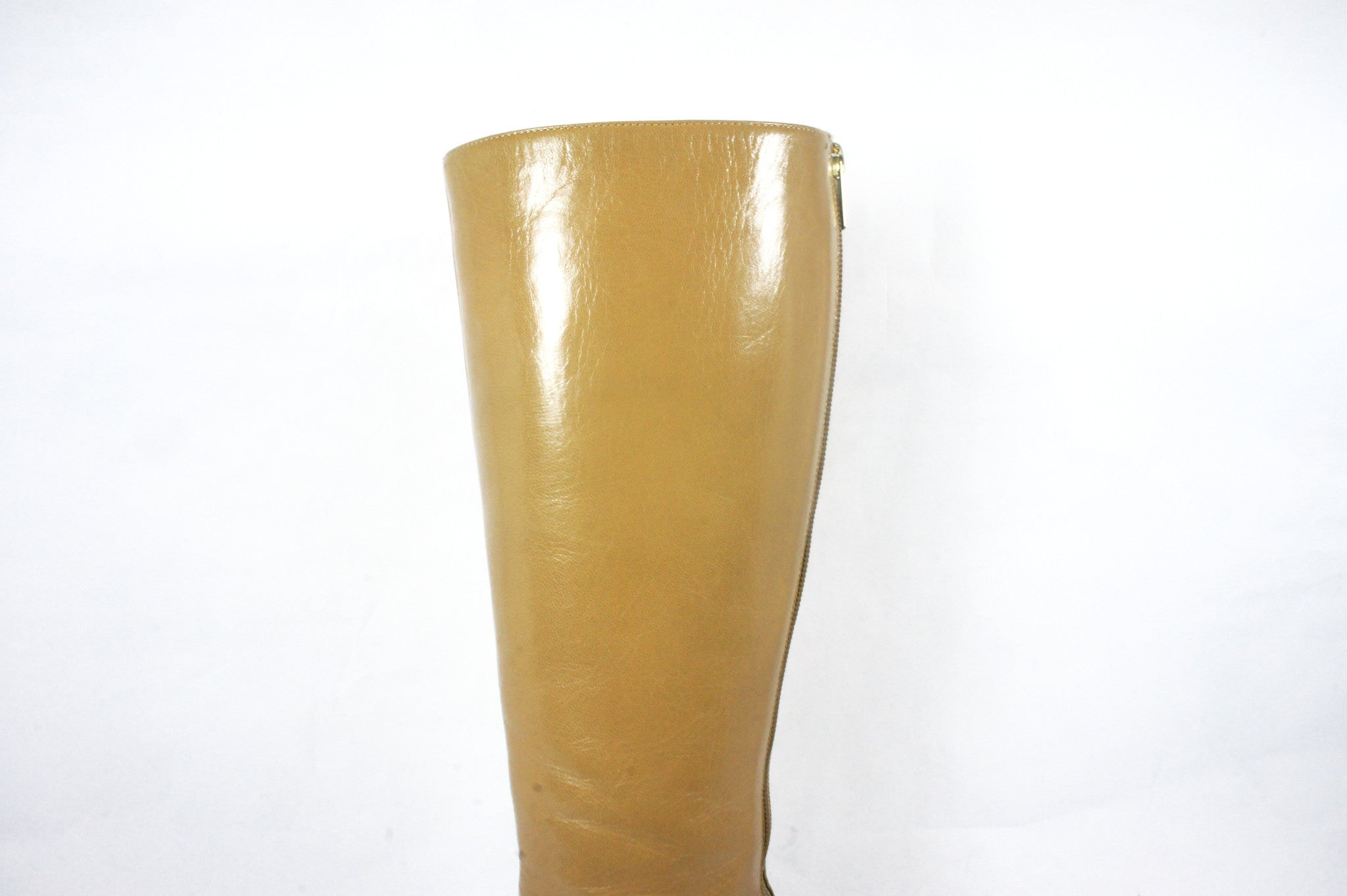 Jimmy Choo Beige Knee High Boots (Size 36.5) - Encore Consignment - 7