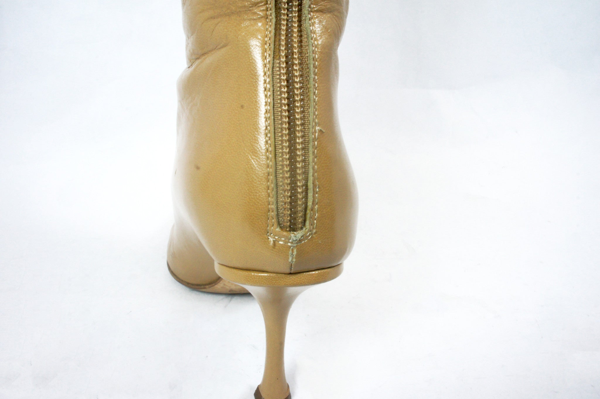 Jimmy Choo Beige Knee High Boots (Size 36.5) - Encore Consignment - 12