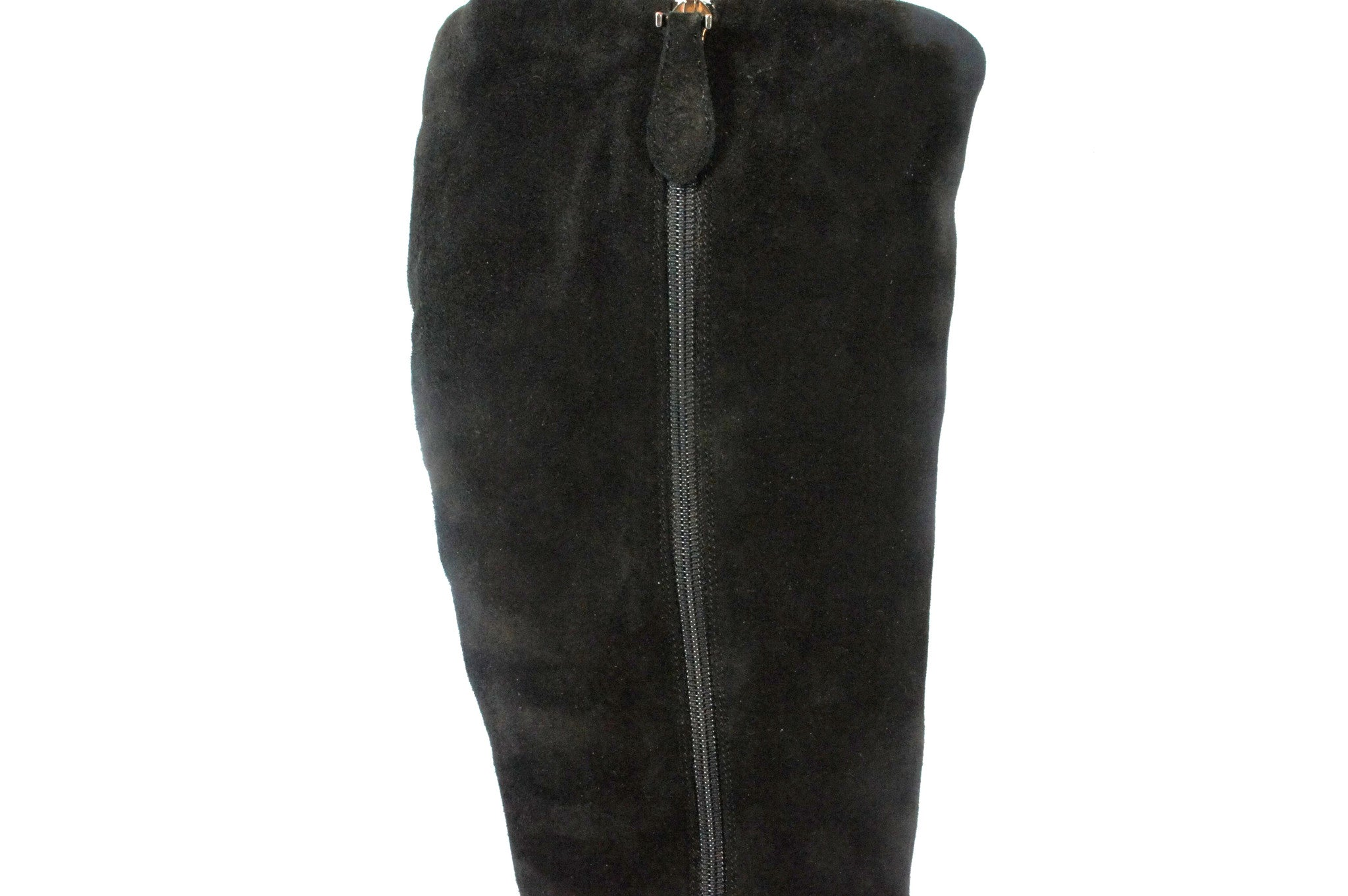 Alaia Black Suede Knee High Boots (Size 40) - Encore Consignment - 8