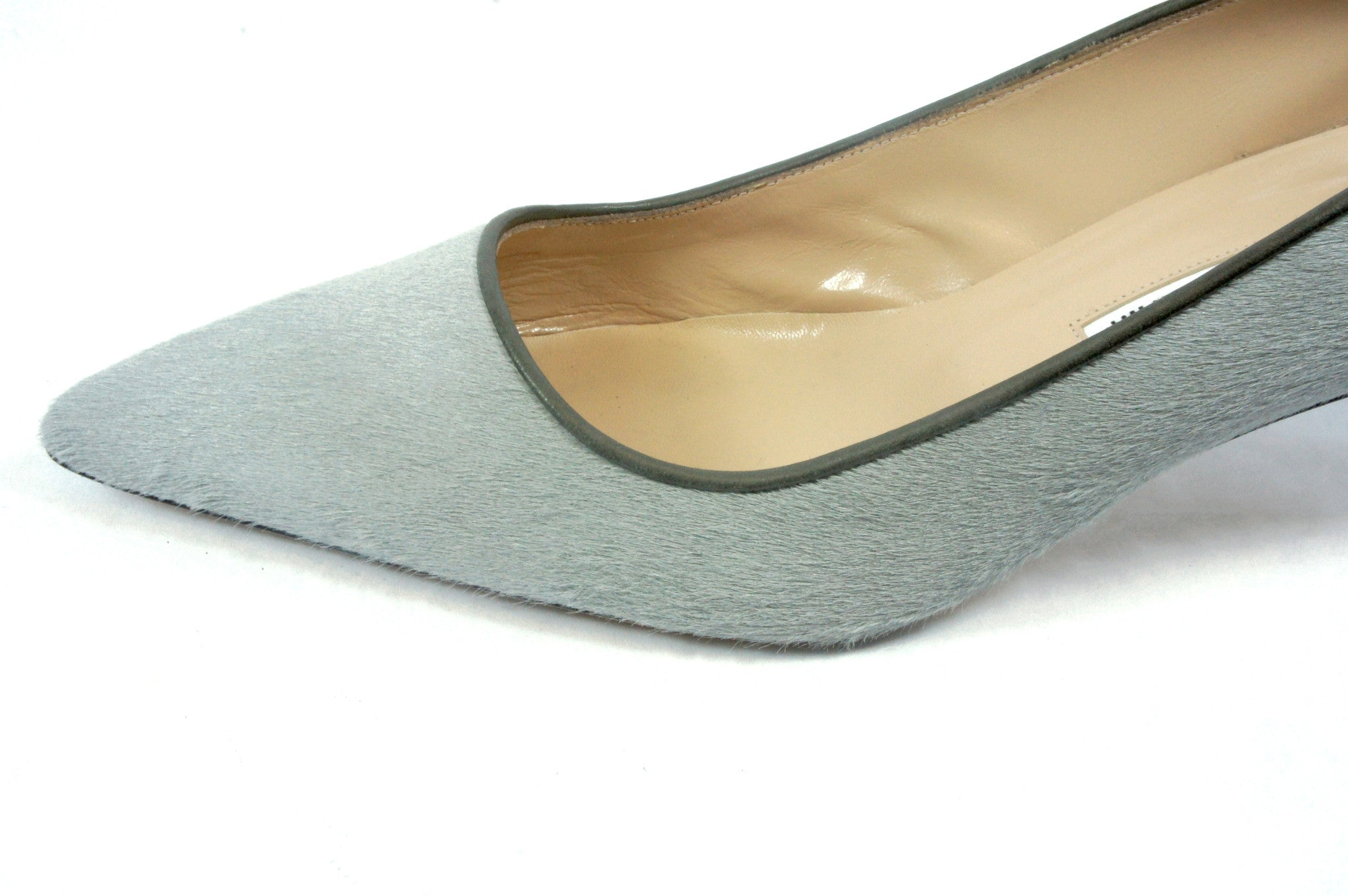 Manolo Blahnik Grey Calfhair Pumps (Size 39.5) - Encore Consignment - 3