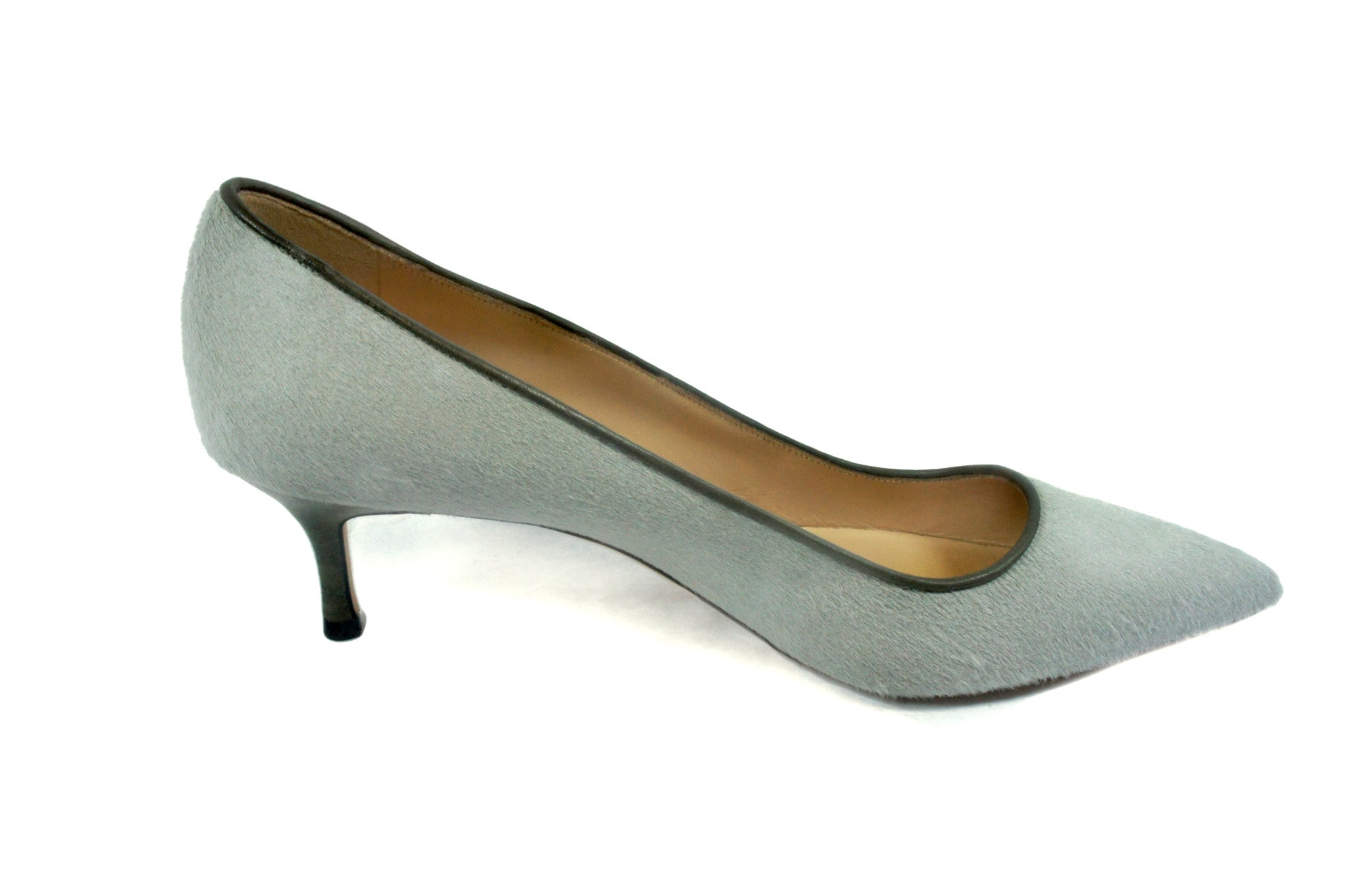 Manolo Blahnik Grey Calfhair Pumps (Size 39.5) - Encore Consignment - 5