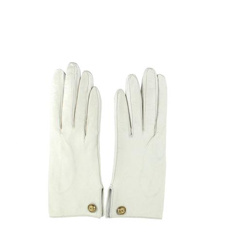 Chanel Cream Leather Gloves - Encore Consignment - 9