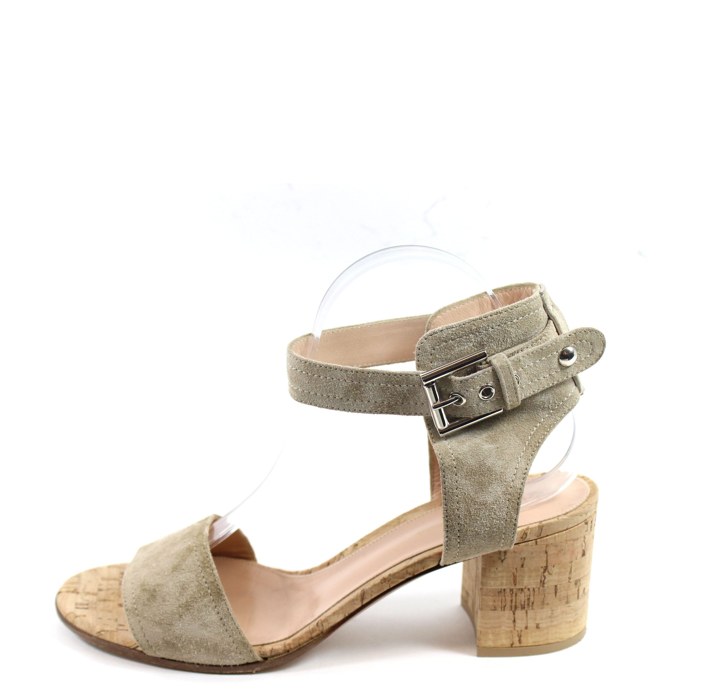 f6727eef34f Gianvito Rossi  Rikki  Taupe Suede Cork Sandals (Size 41) – Encore  Consignment