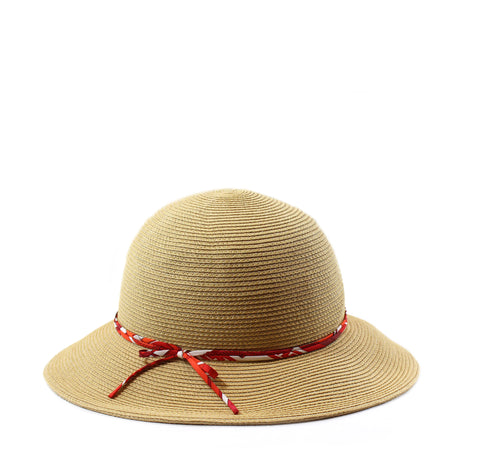 Hermès Straw Hat with Silk Band (Size 58)