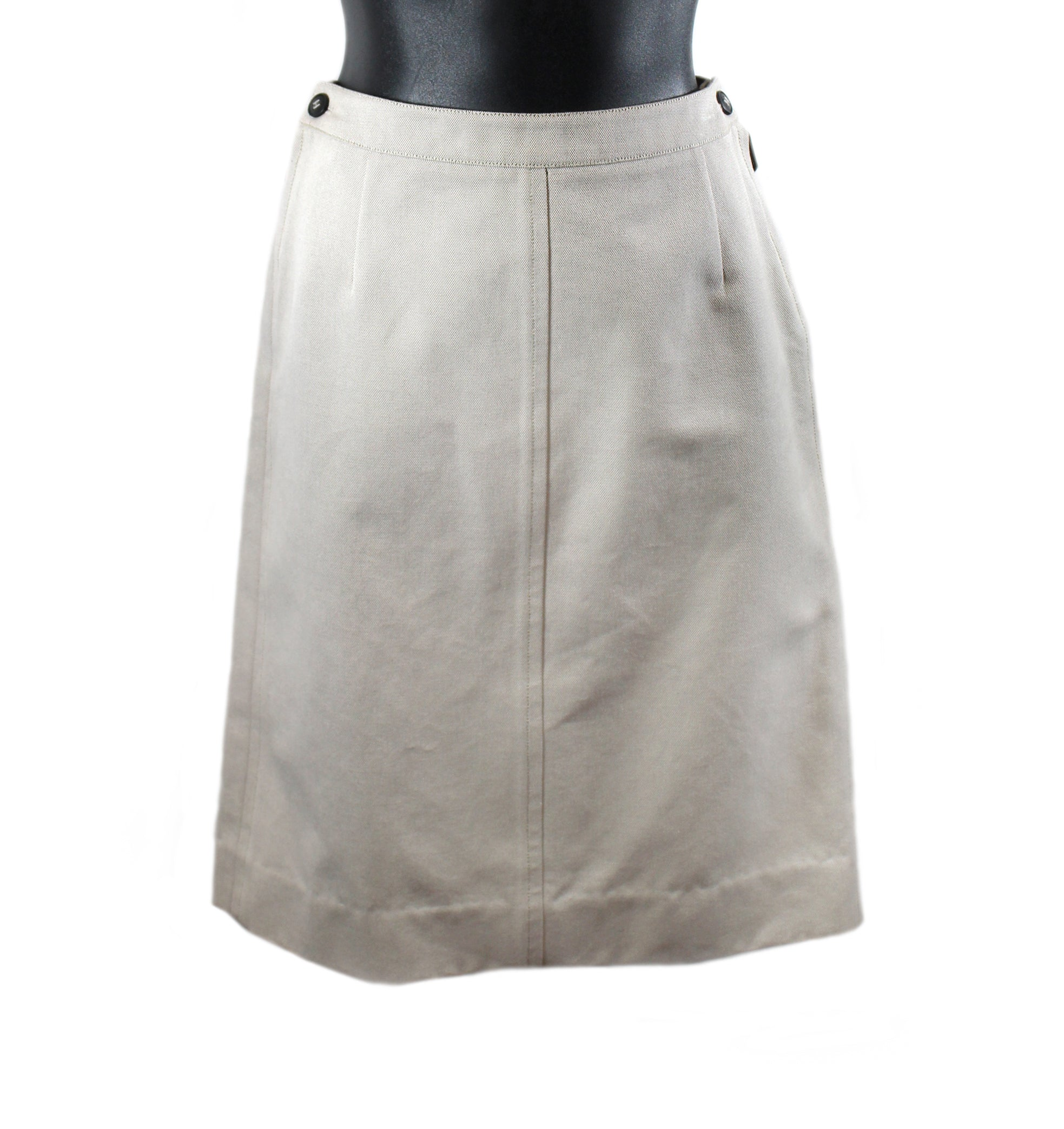 Hermès Beige Cotton Skirt (Size 40)