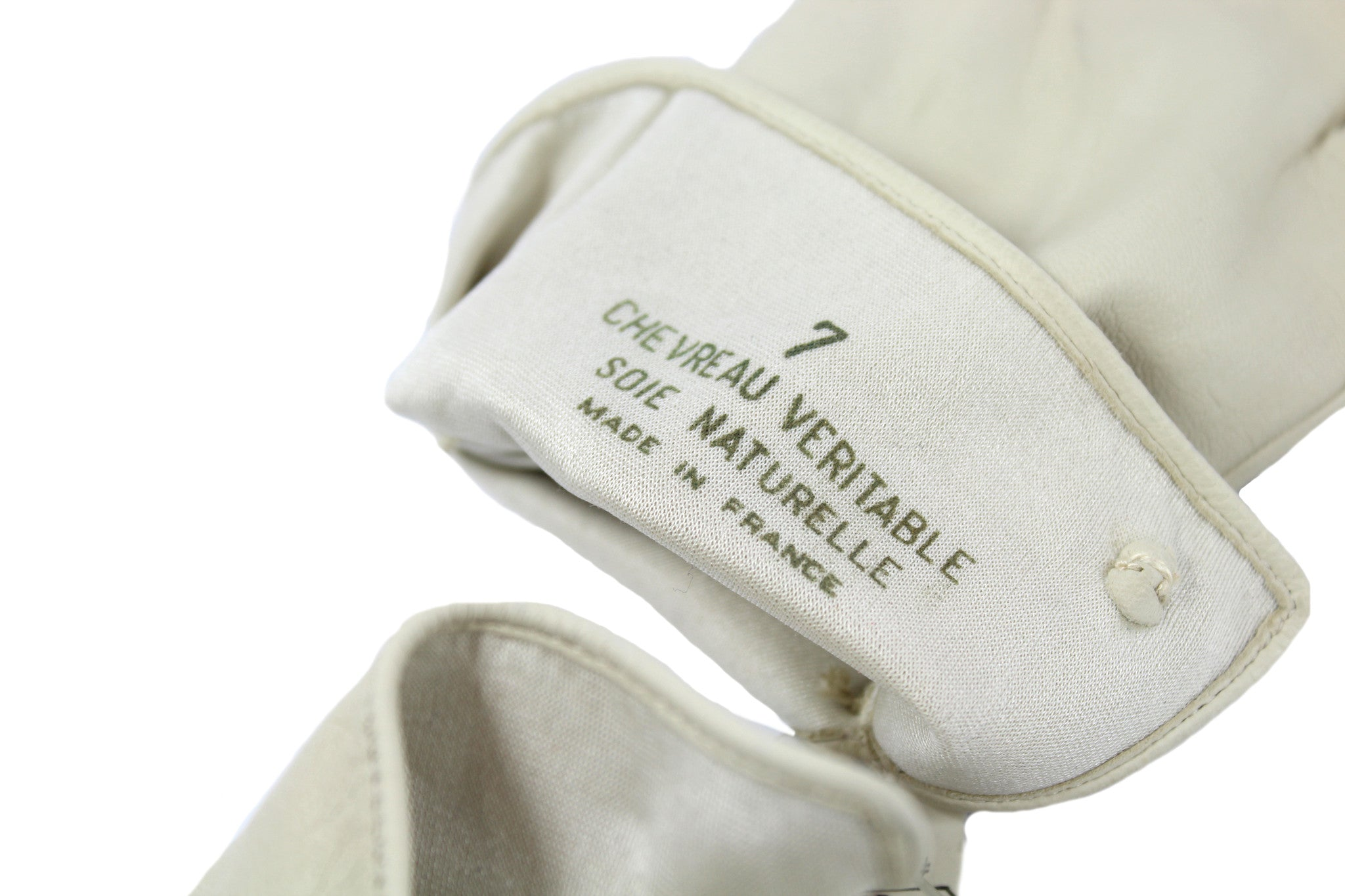 Chanel Cream Leather Gloves - Encore Consignment - 7