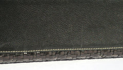 KIESELSTEIN CORD Vtg Alligator Head Woven Leather Trophy Top Handle Shoulder Bag