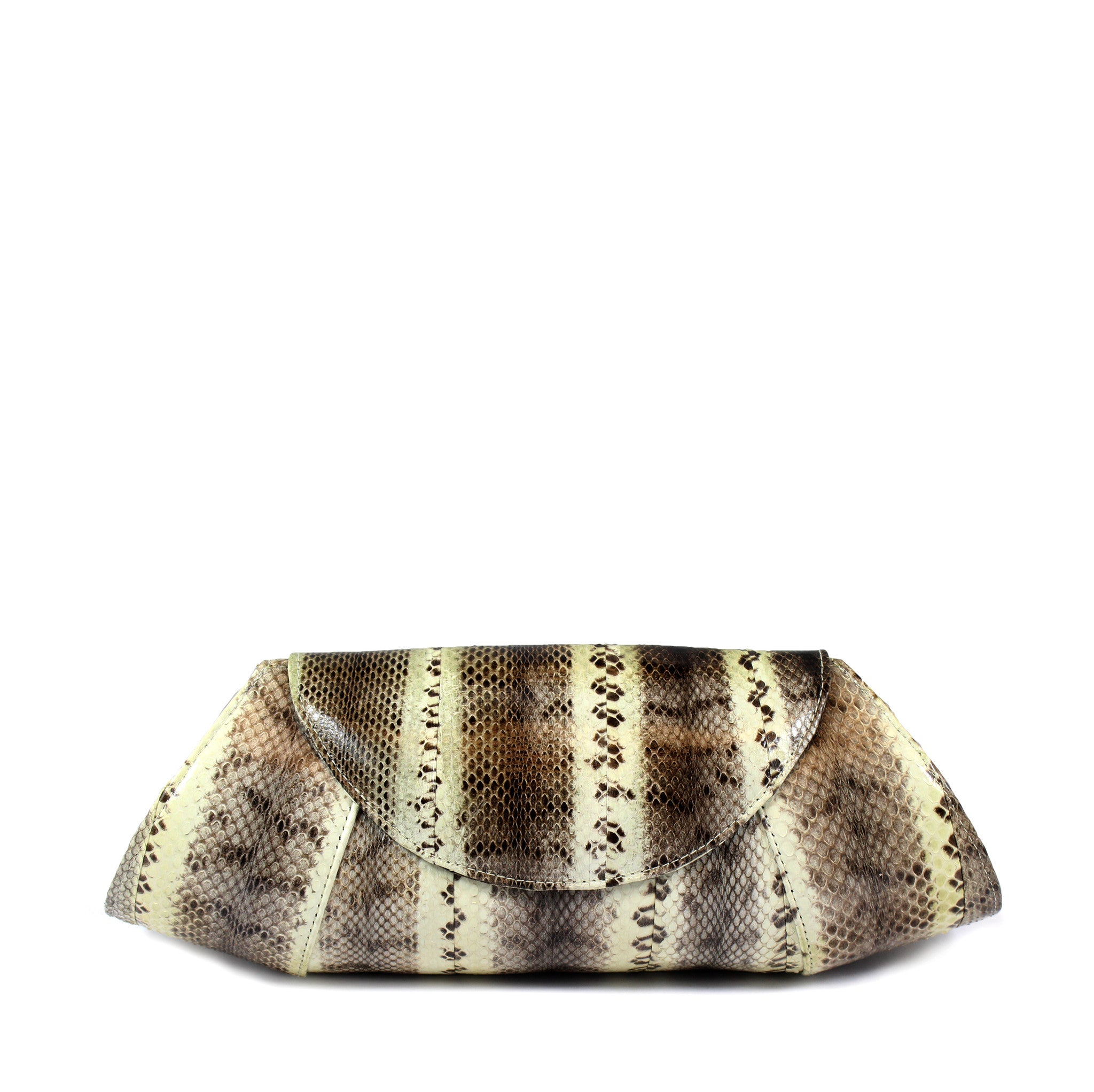 Beirn Large Snakeskin Clutch - Encore Consignment - 1