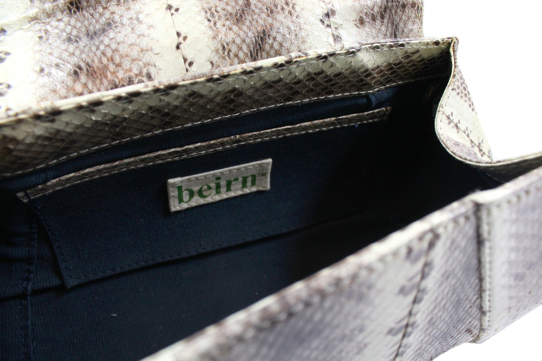 Beirn Large Snakeskin Clutch - Encore Consignment - 5
