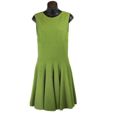 Alaia Pear Sleeveless Knit Flare Dress (Size 44) - Encore Consignment - 1