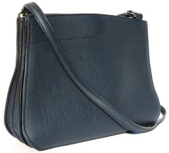 'Sold' LORO PIANA Midnight Navy Blue Odessa Leather Milky Way FAF6483 Crossbody Bag GUC