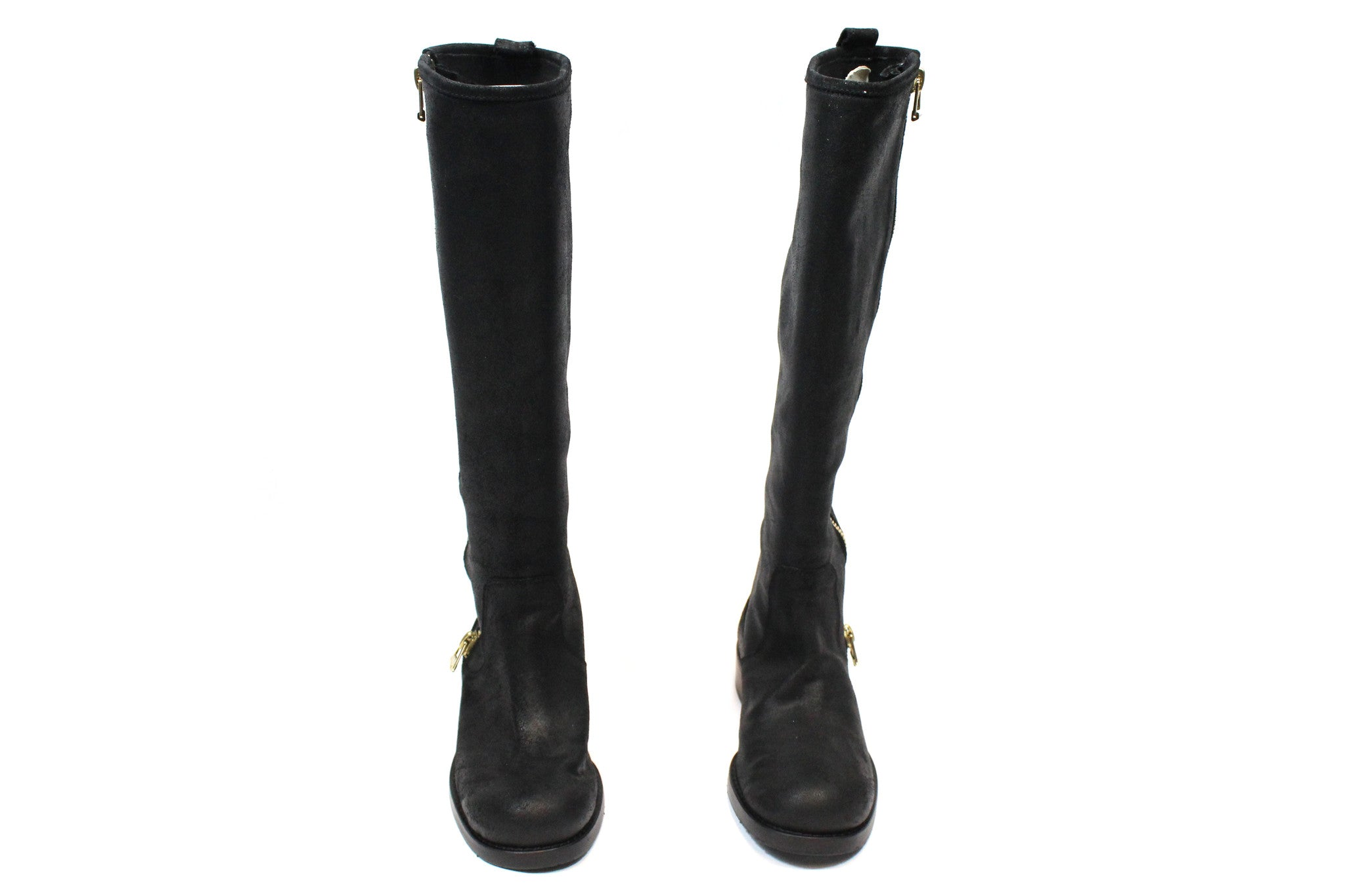 Jimmy Choo Suede 'Doreen' Zip Knee-High Flat Boots (Size 35) - Encore Consignment - 2