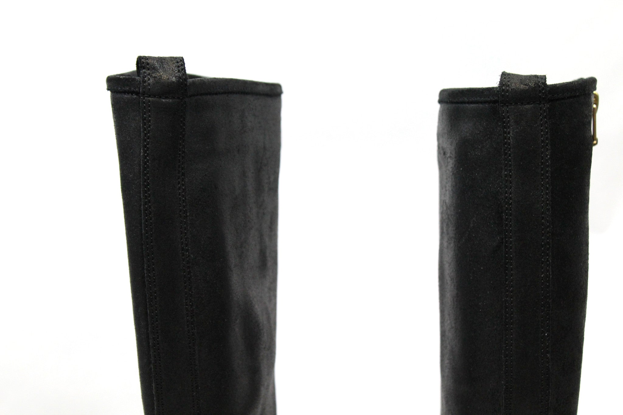 Jimmy Choo Suede 'Doreen' Zip Knee-High Flat Boots (Size 35) - Encore Consignment - 6